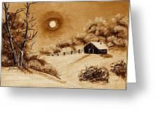 Autumn Snow Greeting Card by Barbara Griffin