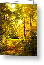 Autumn Splash Greeting Card by Johnny Trippick