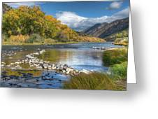 Autumn Stance Greeting Card by Britt Runyon