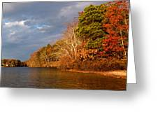 Autumn Storm Approaching Greeting Card by Michelle Wiarda