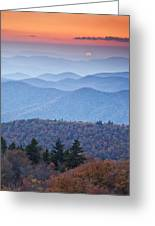 Autumn Sunset On The Parkway Greeting Card by Rob Travis