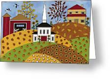 Autumn Tapestry Greeting Card by Medana Gabbard