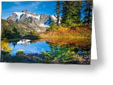 Autumn Tarn Greeting Card by Inge Johnsson