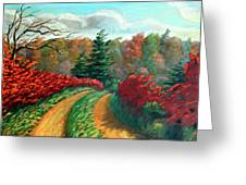Autumn Trail Greeting Card by Otto Werner