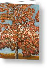 Autumn Tree Greeting Card by Michael Anthony Edwards