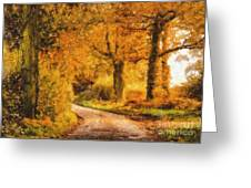 Autumn Trees Greeting Card by Pixel Chimp