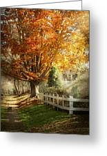 Autumn - Westfield Nj - I Love Autumn Greeting Card by Mike Savad