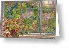 Autumn Windows Greeting Card by Timothy  Easton