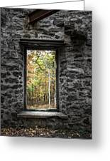 Autumn Within Cunningham Tower - Historical Ruins Greeting Card by Gary Heller