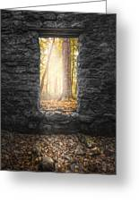 Autumn Within Long Pond Ironworks - Historical Ruins Greeting Card by Gary Heller