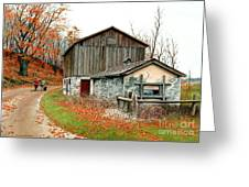 Autumn's Past Time  Greeting Card by Michael Swanson