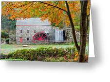 Auutmn At The Grist Mill Greeting Card by Michael Blanchette
