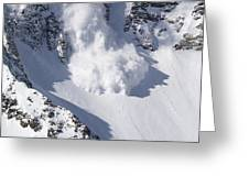 Avalanche II Greeting Card by Bill Gallagher