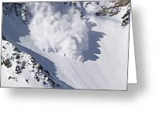 Avalanche IIi Greeting Card by Bill Gallagher