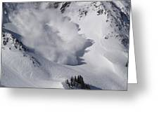 Avalanche Iv Greeting Card by Bill Gallagher