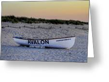 Avalon Lifeboat Greeting Card by Bill Cannon