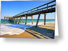 Avalon Pier Greeting Card by Geoff Crego