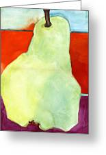 Avery Style Pear Art Greeting Card by Blenda Studio