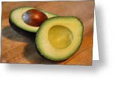 Avocado Greeting Card by Michelle Calkins