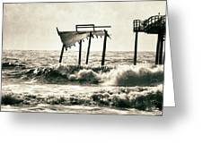 Avon Pier North Carolina Greeting Card by Patricia Januszkiewicz