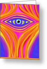 Awakening The Desert Eye Greeting Card by Daina White