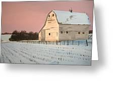 Award-winning Original Acrylic Painting - Nebraska Barn Greeting Card by Norm Starks