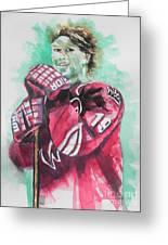 Az Coyotes ...hockey Player Shane Doan Greeting Card by Chrisann Ellis