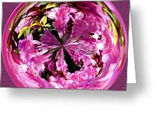 Azalea Orb IIi Greeting Card by Jeff McJunkin