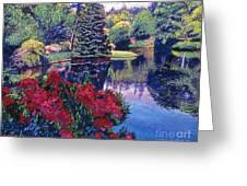 Azaleas In Spring Greeting Card by David Lloyd Glover