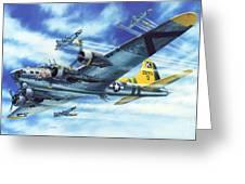 B-17g Flying Fortress A Bit O Lace Greeting Card by Stu Shepherd