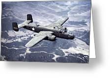 B-25 World War II Era Bomber - 1942 Greeting Card by Daniel Hagerman