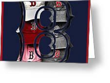 B for BoSox - Boston Red Sox Greeting Card by Joann Vitali