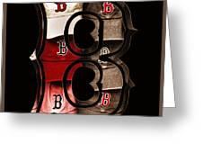 B For Bosox - Vintage Boston Poster Greeting Card by Joann Vitali