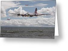 B17 The Hardest Mile Greeting Card by Pat Speirs