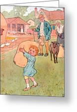 Baa Baa Black Sheep Greeting Card by Leonard Leslie Brooke