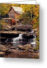 Babcock Grist Mill And Falls Greeting Card by Jerry Fornarotto