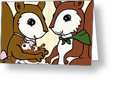 Baby Acorn Greeting Card by Christy Beckwith