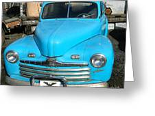 Baby Blue Ford Greeting Card by Chalet Roome-Rigdon