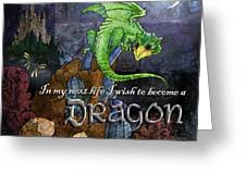 Baby Dragon Greeting Card by Evie Cook