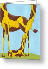 Baby Giraffe Nursery Art Greeting Card by Christy Beckwith