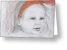 Baby Josephine Greeting Card by Barbara Anna Knauf