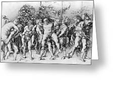 Bacchanal With Silenus - Albrecht Durer Greeting Card by Daniel Hagerman