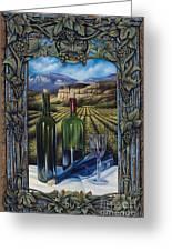 Bacchus Vineyard Greeting Card by Ricardo Chavez-Mendez
