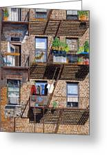 Back Alley View Greenwich Vlg Greeting Card by Stuart B Yaeger