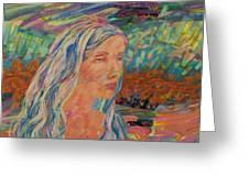 Back Draft - Heidi Greeting Card by Gina Valenti-Lazarchik