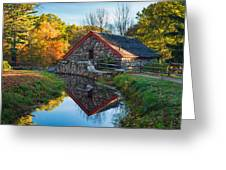 Back Of The Grist Mill Greeting Card by Michael Blanchette