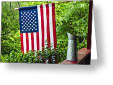 Back Porch Americana Greeting Card by Carolyn Marshall