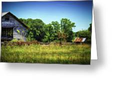 Back Road Barns Greeting Card by Barry Jones