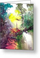Back To Jungle Greeting Card by Anil Nene
