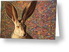 Background Noise Greeting Card by James W Johnson